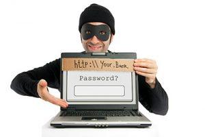 Computer hacker phishing for password